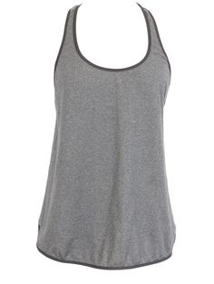 LULULEMON ATHLETICA Women Gray Black Athletic Sportswear Side Slit Scoop Neck Tank Top 6 8