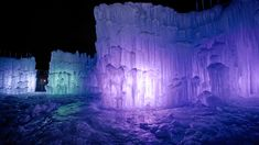 Ice castles in Lincoln, NH.