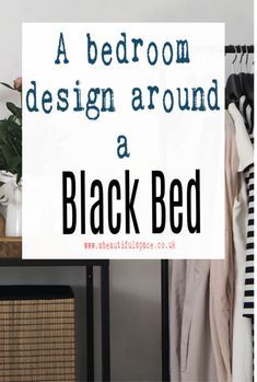 Designing a bedroom around a black bed with r as afocla point in the bedroom or as part of the design...what to consider and what compliments a black metal or black wood bed. Interior design tips to help you make a black bed shine. #blackbedroom #blackbed #bedroomdesign  #abeautifulspace Interior Design Tips, Interior Design Kitchen, Interior Ideas, Black Wood, Black Metal, Diy Christmas Decorations For Home, Beautiful Space, Beautiful Homes, Hallway Designs