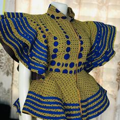 Classy Ankara Peplum Top Styles for Beautiful Ladies African Fashion Ankara, Latest African Fashion Dresses, African Print Fashion, Africa Fashion, African Dresses For Kids, African Lace Dresses, African Attire, African Wear, African Print Dress Designs