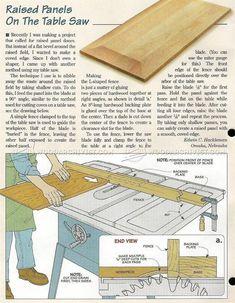Raised Panels on Table Saw - Cabinet Door Construction Techniques   WoodArchivist.com