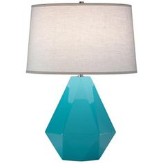 Robert Abbey Delta Egg Blue Table Lamp.