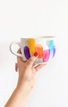Diy decorated cup as gift idea #geschenkidee #diy #tasse