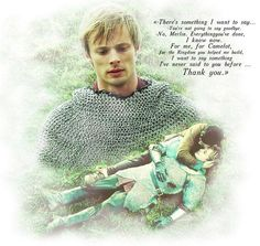 """""""Everything you've done, I know now. For me, for Camelot, for the Kingdom you helped me build, I want to say something I've never said to you before... Thank you. / Merlin - BBC. THANK YOU MERLIN FOR ALL THE AMAZING TIMES!!!! Anybody with anything to do with Merlin..... Thank you .... The sweetest thing ever and all it was, a thank you.... :') so sad it's over"""" :'("""
