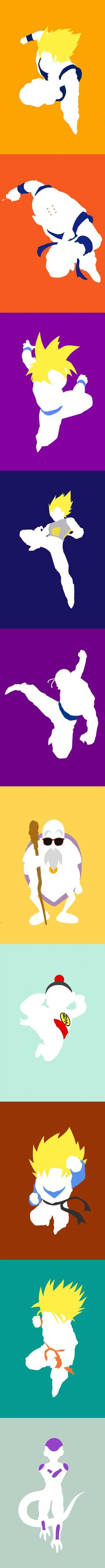 Dragon Ball Z Minimalist Posterswonder if i can print theses and modge podge them on wood for a growth chart