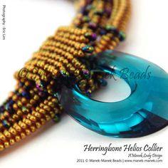 Herringbone Helios Collier by The Manek Lady, via Flickr