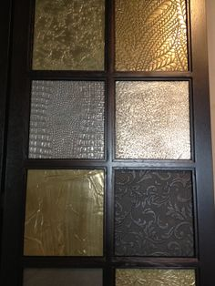 Cast metallic panels - examples of some of the many textures we can produce
