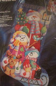 Incredible Musical Santa Christmas Stocking Needlepoint Kit Linda Gillum Easy Diy Christmas Decorations Tissureus