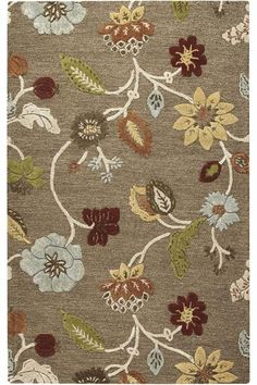 Runner for Laundry room? The Portico Rug - Floral Rugs - Wool Rugs - Rugs | HomeDecorators.com