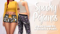 """""""Part 1 of my 2018 Simblreen gift! I've said it once and I'll say it again- you can never have too many pajamas! Both the shorts and pants come with the same patterns~ → base game compatible → comes in 23 fun Halloween patterns → custom thumbnail,. Sims 4 Teen, Sims Four, Sims 4 Mm Cc, Sims 4 Cas, My Sims, Sims 4 Toddler Clothes, Sims 4 Expansions, Sims Stories, Sims 4 Cc Packs"""