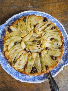 fennel tarte Tatin with hazelnuts & Saint Nectaire cheese