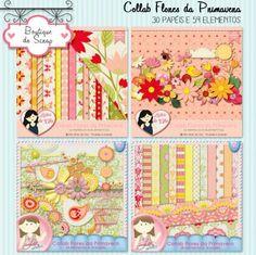 Collab Flores da Primavera by Vika Matos e Lu Arteira - R$13,50 : Boutique do Scrap