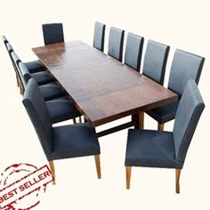 Matterhorn 13 pc Transitional Dining Table and Chair Set For 12 People
