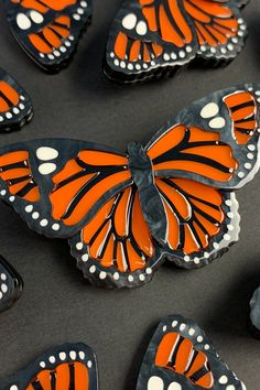 Orange Butterfly, Monarch Butterfly, Prince Of Orange, Retro Fashion, Vintage Fashion, Orange Earrings, And Just Like That, Accessories Online, Resins