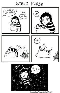 Sarah's Scribbles - Purses #funny #comic