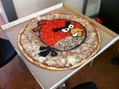 Angy birds pizza