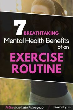Did you know exercise can be used to treat depression and anxiety? Here are 7 mental health benefits of having an exercise routine! Mental Benefits Of Exercise, Improve Mental Health, Depression Recovery, How To Treat Depression, Health Anxiety, Brain Health, Understanding Anxiety, Depression Treatment, Mental Health Awareness