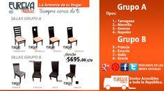 sillas, grupo A y B