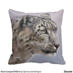 Snow Leopard Pillow