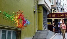 Hong Kong origami installation by Mademoiselle Maurice