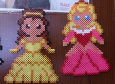 Disney Belle and Aurora hama perler beads by Sonja Ahacarne