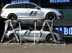 F1 Safety and Medical Cars arriving at the 2012 Australian Grand Prix