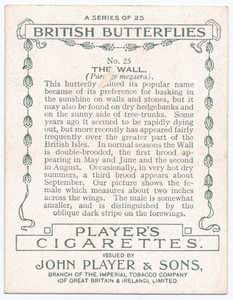 aged cigarette card ephemera