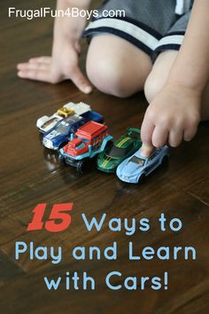 Learning Activities for Kids Who Love Cars!