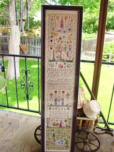 Cross stitched sampler- Awesome!