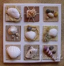 Image result for imagem caixas decoradas com conchinhas do mar