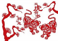 Illustration of Tiger, chinese zodiac animal vector art, clipart and stock vectors. Chinese Astrology, Chinese Zodiac Signs, Chinese Tiger, Tiger Facts, Year Of The Tiger, Zodiac Years, Zodiac Signs Aquarius, Pictogram, Vector Art