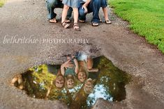 I'm sure we could find a puddle somewhere for our photos.