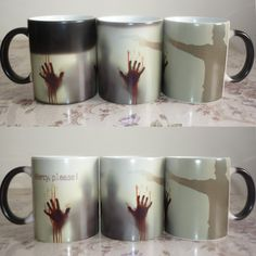 Cheap mug cup, Buy Quality the cup directly from China the walking dead mug Suppliers:                      New Arrive Mercy please The Walking Dead Mugs morphing coffee mugs zombie mug novelty heat ch