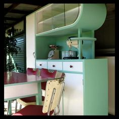 Fab Retro, Vintage, 1950's Kitchen, Cupboards, Table & Chairs | eBay