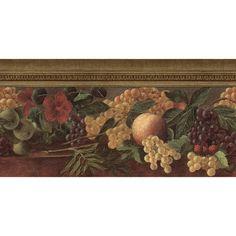 Old Master Fruit Wallpaper Border, Multicolor