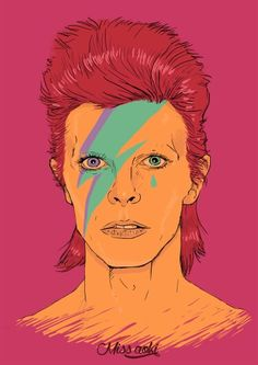 David bowie pop art .