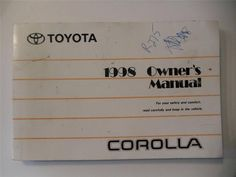 1995 toyota camry owners manual book guide owners manuals pinterest 1998 toyota corolla owners manual book fandeluxe Images