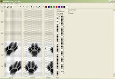 empreintes 15 perles Bead Crochet Patterns, Bead Crochet Rope, Seed Bead Patterns, Peyote Patterns, Loom Patterns, Beading Patterns, Loom Bracelet Patterns, Beaded Necklace Patterns, Bead Loom Designs