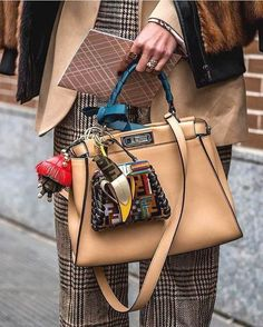 83341cf446a6 Fendi Peekaboo Bag street style outfit   Designer work bag   street style  fashion   work