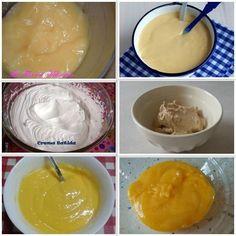 Cremas dulces para rellenar pasteles, tartas, bizcochos...