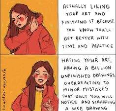 I'm scared how accurate this is😆 Art Memes, Art Puns, Book Memes, Art Quotes, Artist Problems, Stupid Funny Memes, Funny Stuff, Artist Life, Drawing Tips