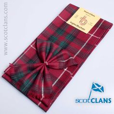 Pure wool mini sash in Stuart of Bute Tartan - available from ScotClans