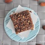 Amazing almond butter bars! I just added a touch of agave to help them stick together better