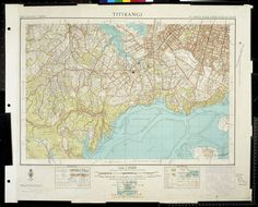 A topographic map of the area in West Auckland. Nz History, George Gray, Topographic Map, Glen Eden, Auckland, Green Bay, Libraries, New Zealand, Vintage World Maps