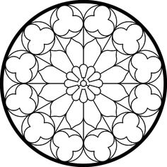 Best embroidery rose pattern coloring pages Ideas Stained Glass Rose, Stained Glass Quilt, Stained Glass Designs, Stained Glass Patterns, Mandalas Painting, Mandalas Drawing, Mandala Design, Mandala Art, Rose Window