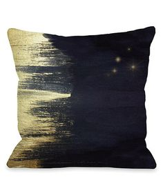 Loving this Midnight Gold Starry Night Throw Pillow on #zulily! #zulilyfinds
