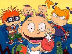 Rugrats, cute show but could have done with out the blonde girl with the pig tales. I hated her so much I can't remember her name. lol
