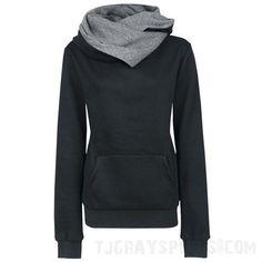 Women's Sportswear Turtleneck Hoodie  #black #orders #tight #sport #sportsbra #football #yoga #white #small #running