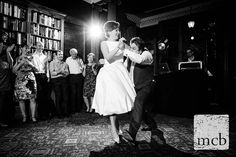 Bride and groom dance to Bring me sunshine at the University Womens Club in London