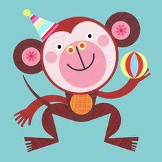 Cute #monkey #art! Ellen Giggenbach - home